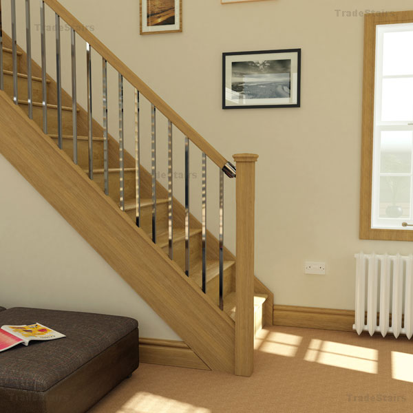 New Axxys squared oak handrail system