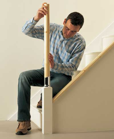 How to fit a newel post
