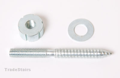 handrail bolt 80mm with slotted nut