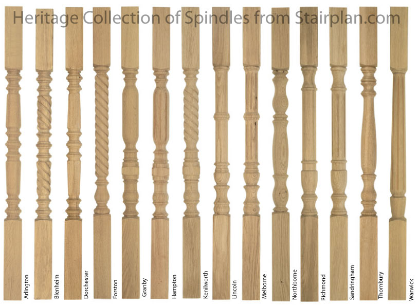 Heritage collection of Oak 55mm Spindles