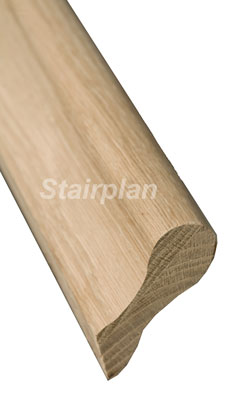 Oak Lambs tongue handrail stair banister